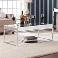 Upton Home Adelie Mirrored Coffee/ Cocktail Table