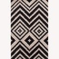 Hand Tufted Abstract Pattern White/Grey Wool Rug (5'x8')