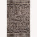 Hand-Tufted Abstract Pattern Gray/Black Wool Rug (8'x10')
