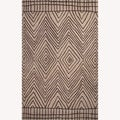 Hand-Tufted Abstract Pattern Grey/Ivory Wool Rug (8'x10')