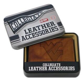 NCAA West Virginia Mountaineers Leather Embossed Bi-fold Wallet
