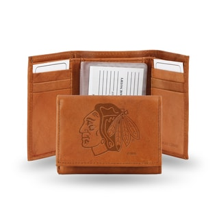 Chicago Blackhawks Leather Embossed Tri-fold Wallet