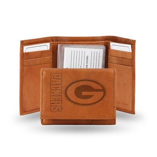 NFL Green Bay Packers Leather Embossed Tri-fold Wallet