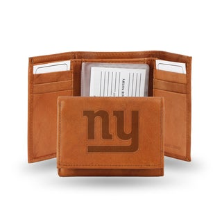New York Giants Leather Embossed Tri-fold Wallet
