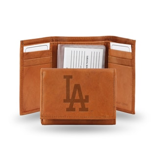 Los Angeles Dodgers Leather Embossed Tri-fold Wallet