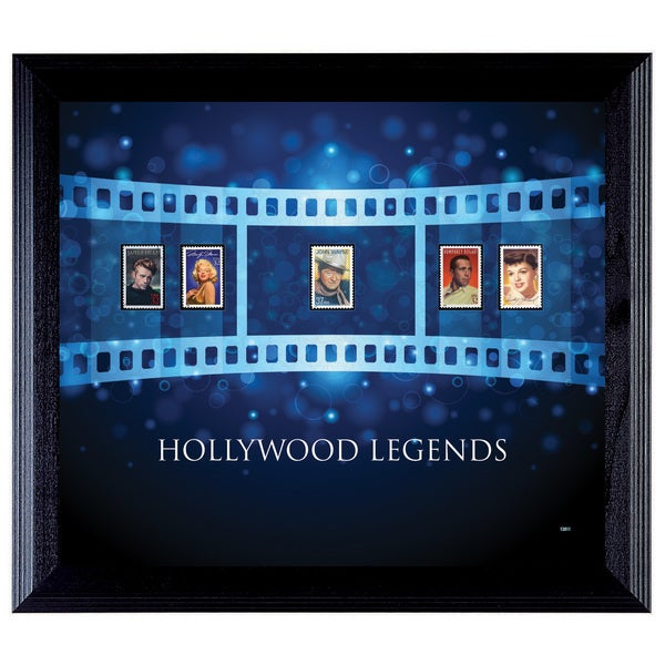 American Coin Treasures Hollywood Legends Framed Stamp Collection