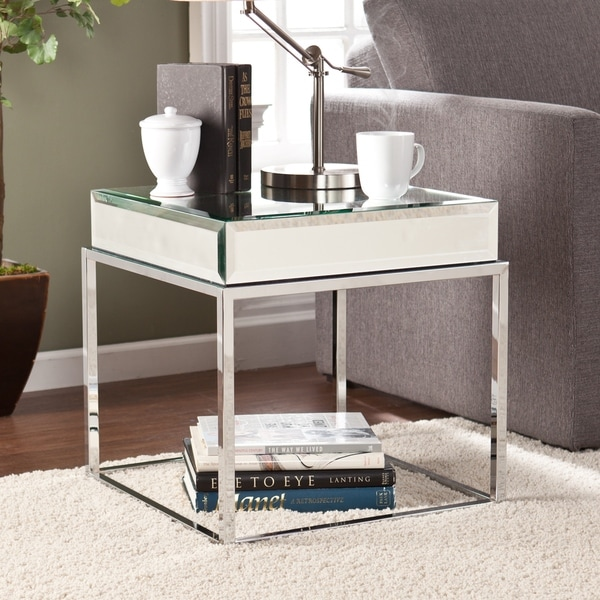 Upton Home Adelie Mirrored End Table 16057199 Shopping Great Deals On Upton