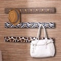 Upton Home Delia Animal Print Wall Coat/ Purse Hook 3 Piece System
