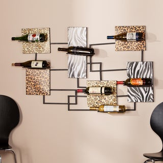 Upton Home Tessa Animal Print Wine Storage Wall Sculpture