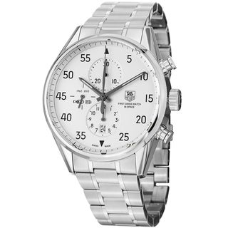 Tag Heuer Men's 'Carrera' White Dial Stainless Steel Automatic Watch CAR2015.BA0796