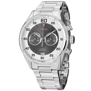 Tag Heuer Men's CAR2B11.BA0799 'Carrera' White/Grey Dial Stainless Steel Watch