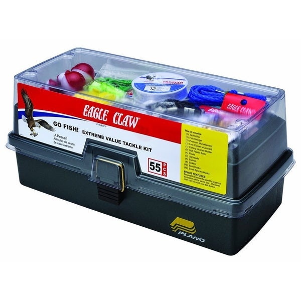 Eagle Claw Go Fish Extreme Tackle Box Kit