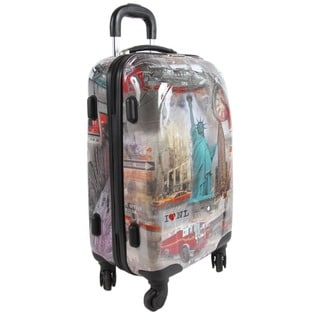 Nicole Lee New York 21-inch Carry-on Hardside Spinner Upright