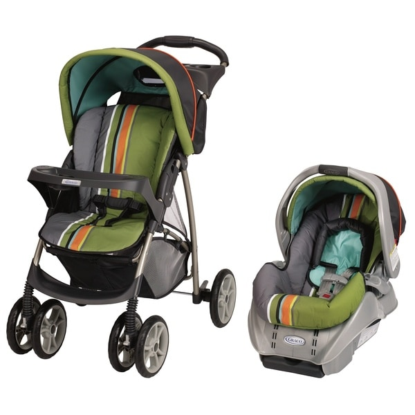 Graco LiteRider Classic Connect Travel System in Gecko