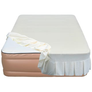 Airtek Raised 22-inch Queen-size Memory Foam Airbed with Skirted Sheet Cover