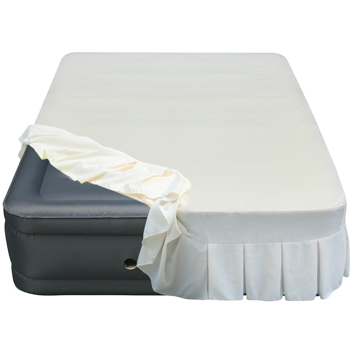 Overstock.com Altimair Raised 20-inch Queen-size Airbed with Perfectly Fitted Skirted Sheet Cover at Sears.com