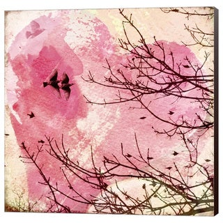 Pamela Viola 'Pink Flight 1' Canvas Wall Art