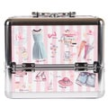 Nicole Lee Doll House Priscilla Travel Cosmetic Case with Mirror