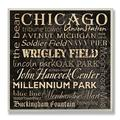Carol Stevens 'Chicago Landmarks' Square Typography Wall Plaque