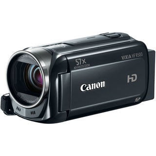 "Canon VIXIA HF R500 Digital Camcorder - 3"" - Touchscreen LCD - HD CMO"