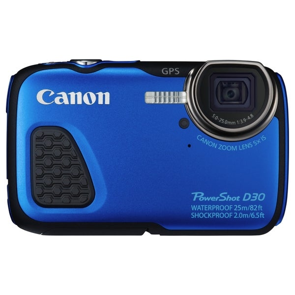Canon PowerShot D30 12.1MP Waterproof Blue Digital Camera