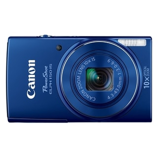 Canon PowerShot 150IS 20MP Blue Digital Camera