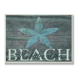 It's Better at the Beach Starfish Wall Plaque