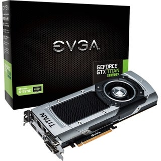 EVGA GeForce GTX TITAN Black Graphic Card - 889 MHz Core - 6 GB GDDR5