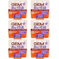 Gem Blue Star Super Single-Edge 5-Blade Razor Pack (Set of 6)