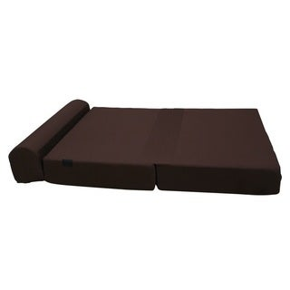 Folding Foam Mattress Costco Large 8-inch Thick Brown Tri-fold Foam Bed / Couch - Overstock ...
