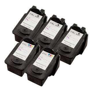 Sophia Global Remanufactured Ink Cartridge Replacement for Canon PG-210XL CL-211XL (Pack of 5)