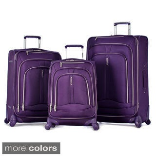 Olympia 'Marion' 3-piece Spinner Luggage Set with Cover