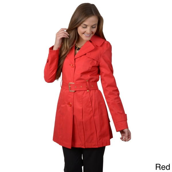 Kenneth Cole Women's Single-breasted Belted Trench Coat