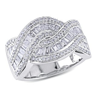 Miadora 14k White Gold 1ct TDW Braided Diamond Ring (G-H, SI1-SI2)