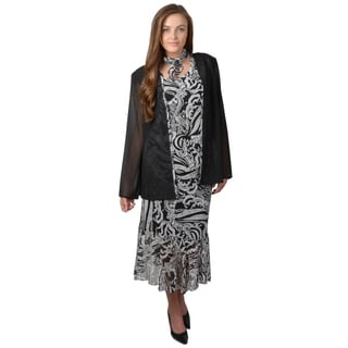 Tressa Designs Women's Black Lightweight 4-piece Skirt Set