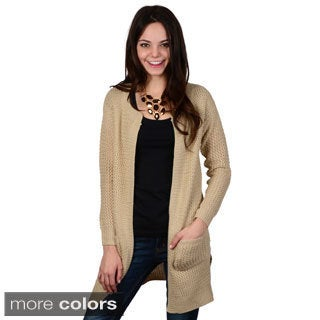 Hailey Jeans Co. Junior's Long Sleeve Open Front Knit Cardigan