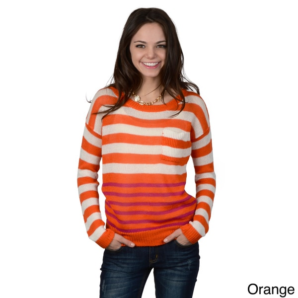 Hailey Jeans Co. Junior's Long-sleeve Striped Sweater