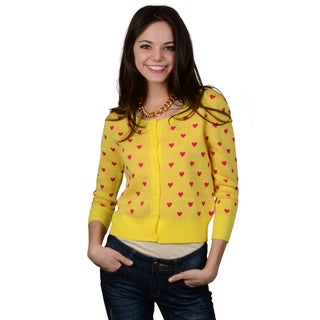 Hailey Jeans Co. Junior's Button-up Heart Cardigan