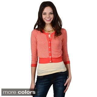 Hailey Jeans Co. Junior's Button-up Cropped Cardigan