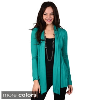 Hailey Jeans Co. Junior's Pleated Open Front Cardigan
