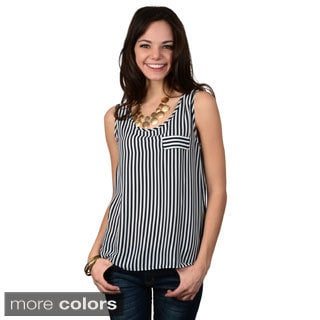 Hailey Jeans Co. Junior's Sleeveless Striped Top