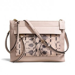 Coach 'Madison Felicia' Blush Python Embossed Crossbody Bag