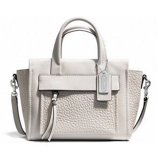 Coach 'Bleeker' Parchment Leather Mini Pocket Crossbody Bag