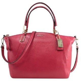 Coach 'Madison Kelsey' Small Pink Scarlet Leather Satchel