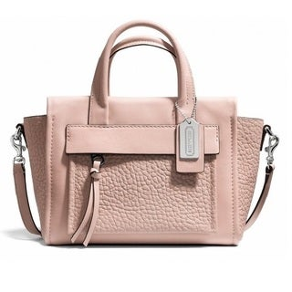 Coach 'Bleeker' Peach Rose Mini Pocket Crossbody Bag