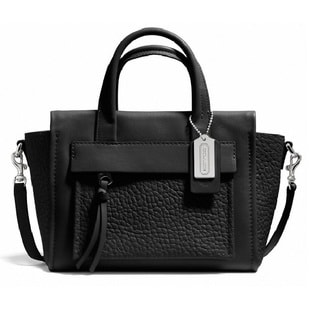 Coach 'Bleeker' Black Mini Pocket Crossbody Bag