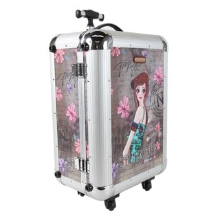 Nicole Lee Priscilla Spendid Aluminium 21-inch Hardside Carry On Spinner Upright