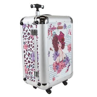 Nicole Lee Priscilla Girl with Hat Aluminium 21-inch Hardside Carry-on Spinner Upright
