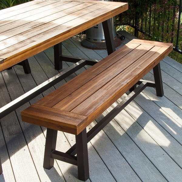 Bench Outdoor Dining Furniture Set Garden Table Patio Porch Yard New