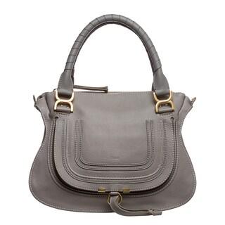 Chloe 'Marcie' Small Grey Leather Satchel